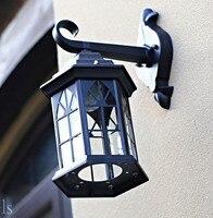 ยุโรปโคมไฟติดผนัง LED โคมไฟติดผนังกลางแจ้งกันน้ำผนังโคมไฟอลูมิเนียมโบราณ Porch ไฟ