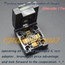 TQFP48 IC SOCKET QFP48 LQFP48 test socket  Pitch=0.5mm Size=7mmX7mm 9mmX9mm