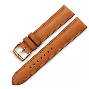 Image 4 - Isap 18mm 19mm 20mm 21mm 22mm pulseira de relógio de couro genuíno pulseira de relógio com rosa ouro pino fivela para tissot omega iwc