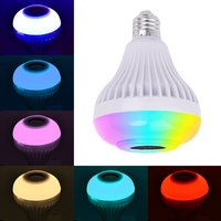 12 LEDs RGB LED Light Bulb 12W Wireless Bluetooth Speaker Music Playing E27 Intelligent Colorful Lamp