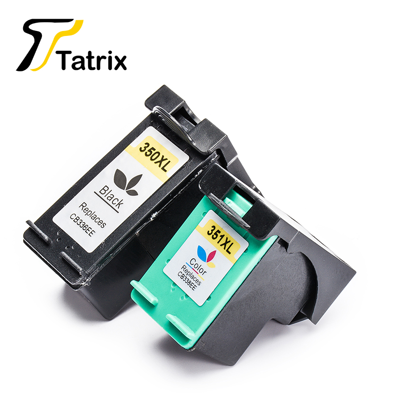 Tatrix 2PCS Ink Cartridge For HP350 HP351 HP350XL <font><b>351XL</b></font> For <font><b>HP</b></font> D4260 D4360 J6480 J5780 C4280 C5280 C4480 C5250 D5360 image