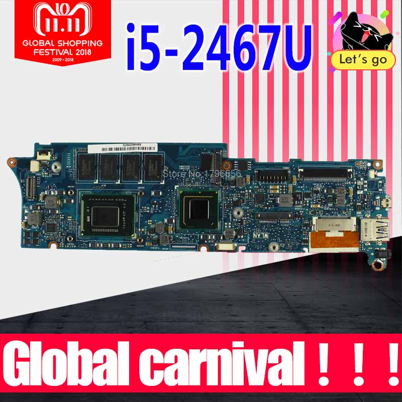 UX21E Motherboard I5-2467m CPU-4GB RAM For ASUS UX21E laptop Motherboard UX21E Mainboard UX21E Motherboard test 100% OK send i5 cpu n73sv laptop motherboard 8 memory gt 425m 1gb 3 ram slot for asus n73sv n73s n73sm motherboard mainboard test ok