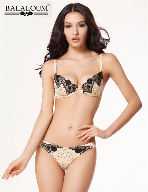 New Retro Palácio Bordado Conjunto Underwear Intimates Bra & Sets Breve, Sexy Com Decote Em V Push Up Bra e Cuecas Das Mulheres BS233