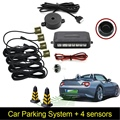 Car Auto 4 Parking Sensor Reverse Backup Rear Radar Car Parking Detector System Kit Sound Alert Alarm 10 Colors