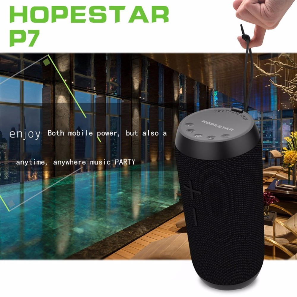 HOPESTAR Bluetooth Speaker sound bar subwoofer soundbar P7 TF Card speakers Waterproof Wireless Speaker subwoofer 1800mAh mirror design bluetooth speaker wireless mini alarm clock speaker car subwoofer potable wireless speaker support tf card