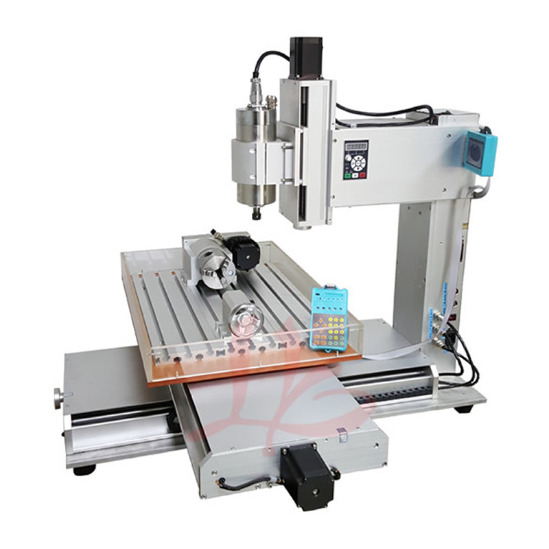 4 Axis CNC Router 6040 1.5KW 2.2KW CNC Engraving Milling Machine with Water Tank, Russia free tax 2 2kw 3 axis cnc router 6040 z vfd cnc milling machine with ball screw for wood stone aluminum bronze pcb russia free tax