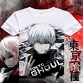 De calidad superior Anime tokio ghoul camiseta Ken Kaneki fibra de la leche a todo Color hombres camiseta moda mujeres blanco camiseta Tops Tee