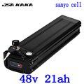48В 20ач батарея для электровелосипеда 48В литиевая батарея для sanyo cell 48В 21ач батарея для электровелосипеда 48В bafang 1000 Вт 750 Вт bbs02 мотор