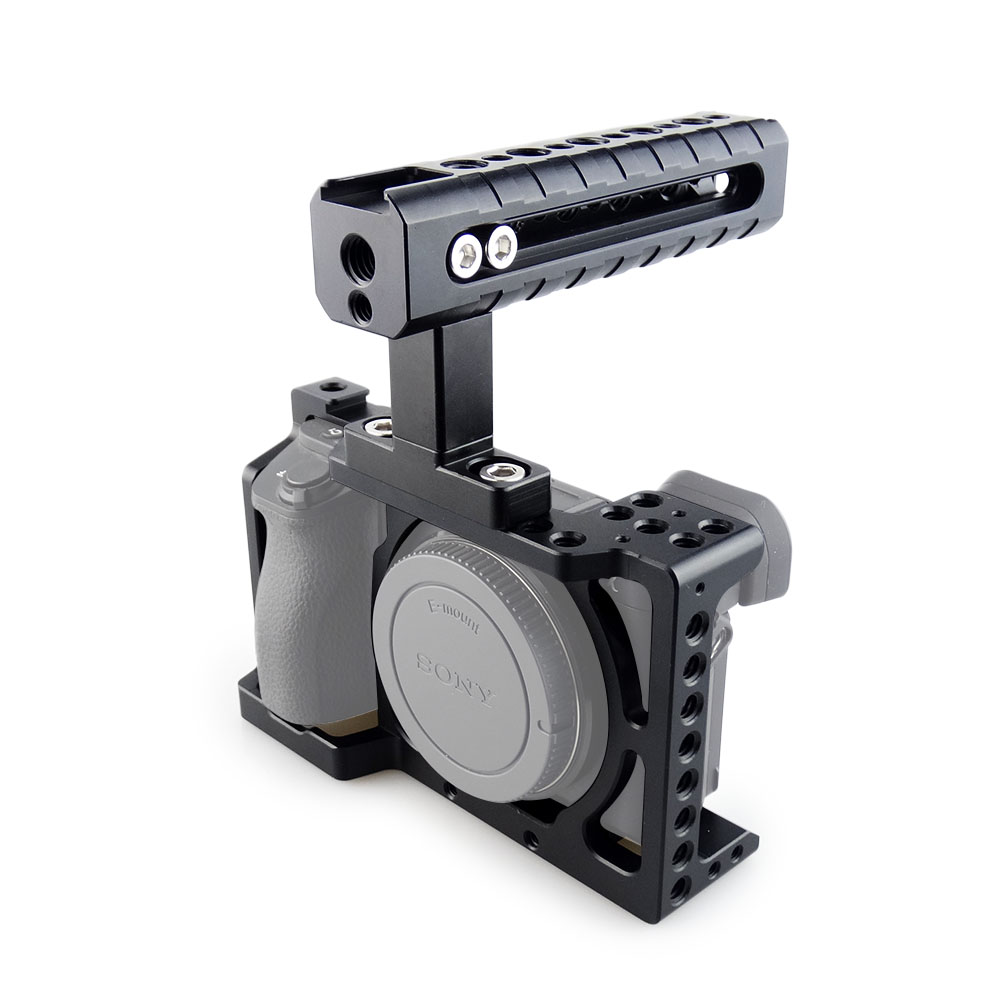 MAGICRIG DSLR Camera Cage with Quick Release Top Handle for Sony A6000/ A6300/ A6500/ ILCE-6000/ ILCE-6300/ ILCE-6500/ NEX7 waraxe a6 camera cage for sony ilce 6000 ilce 6300 ilce a6500 with 1 4 and 3 8 threaded holes cold shoe base free shipping