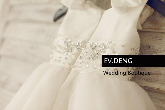 Фактические lmages белого цвета, ручная работа, с бисером, с цветочным рисунком платья для девочек для свадебных торжеств Вечерние Платья, Лидер продаж vestido de festa