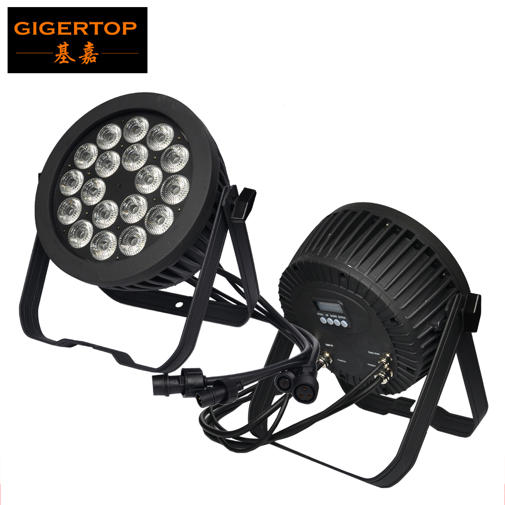 TIPTOP 18X18W Outdoor Led Par Cans Double Yoke Stage Light 6/10 Channels Linear Dimmer No Flicker Club Stage Party Light