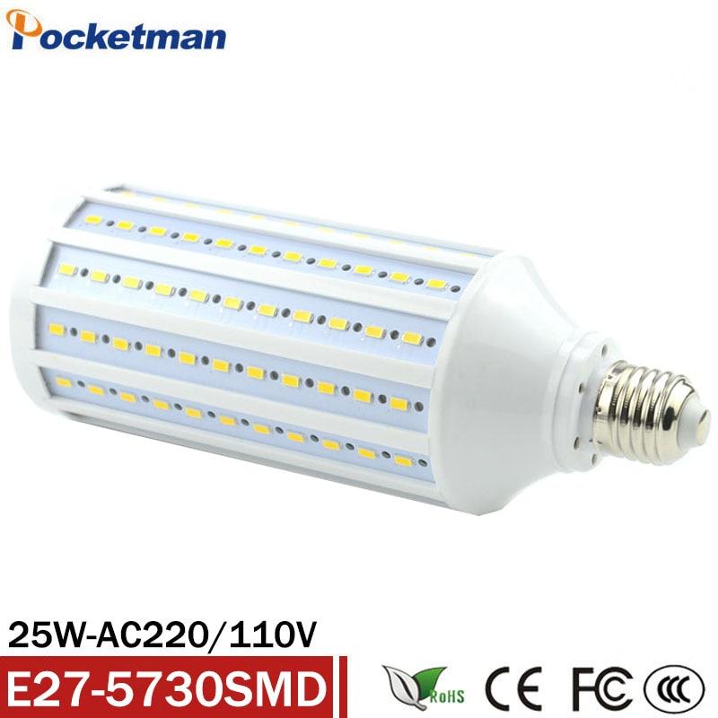Высокая Мощность AC 220 В 240 В 25 Вт E27 86 светодиодный лампы высокую яркость 5730 SMD СВЕТОДИОДНЫЙ кукурузный шарик люстры подвесные светильники пот...