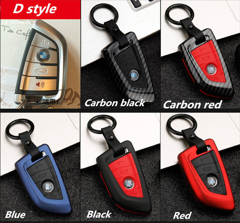 Image 5 - Carbon stripe Matte texture Car Key Cover Case For BMW X5 F15 X6 F16 G30 7 Series G11 X1 F48 F39 Keychain Car shell Car stying-in Key Case for Car from Automobiles & Motorcycles
