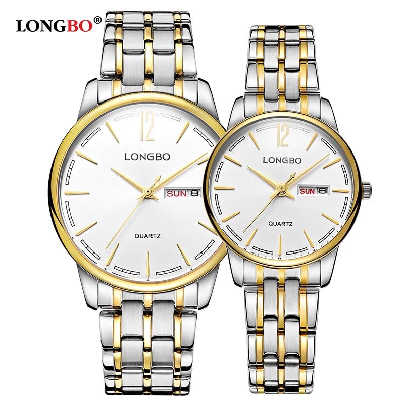 LONGBO Brand 2017 New Fashion Men Women Watches Classic Waterproof Couple Wristwatch Casual Lovers Watch Gifts Hot Sale 5089