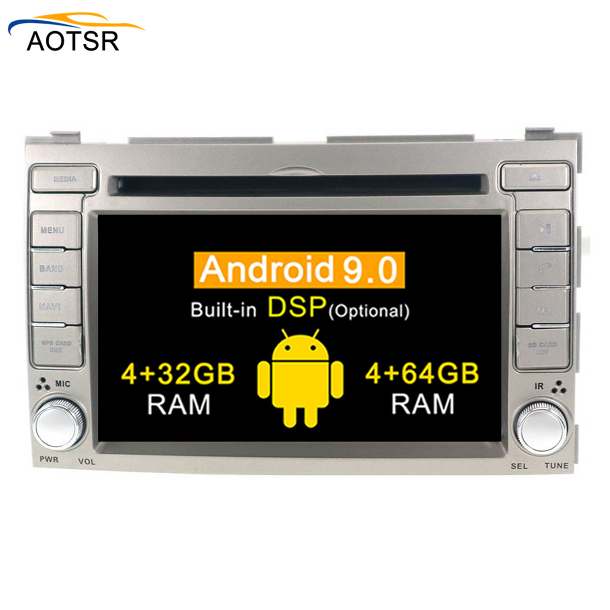 2 Din Car GPS multimedia Player Android 9 0 For Hyundai I20 2008 2013 Auto stereo