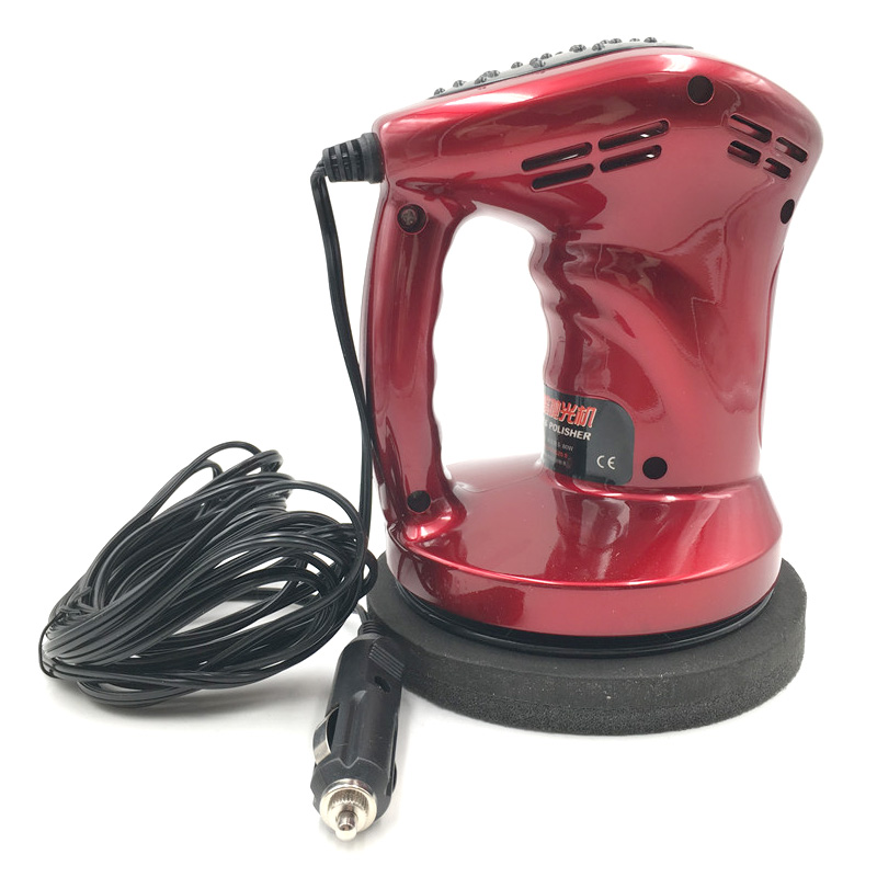 12V 80W Mini Car Polishing Machine DC Waxing Machine Care Repair Polisher Cigarette Cleaner Waxer for Scratch Remover