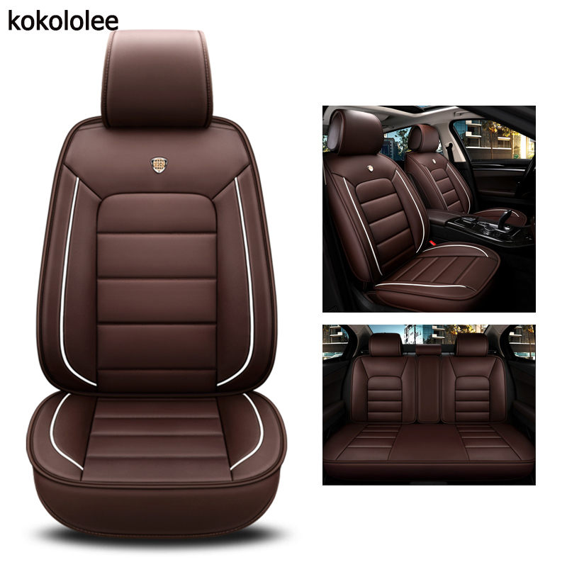 kokololee pu leather car seat cover For audi a3 sportback jaguar xf hyundai solaris 2017 vw