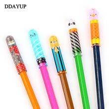 5 шт/компл держатель для карандашей с милым животным удлиняющим