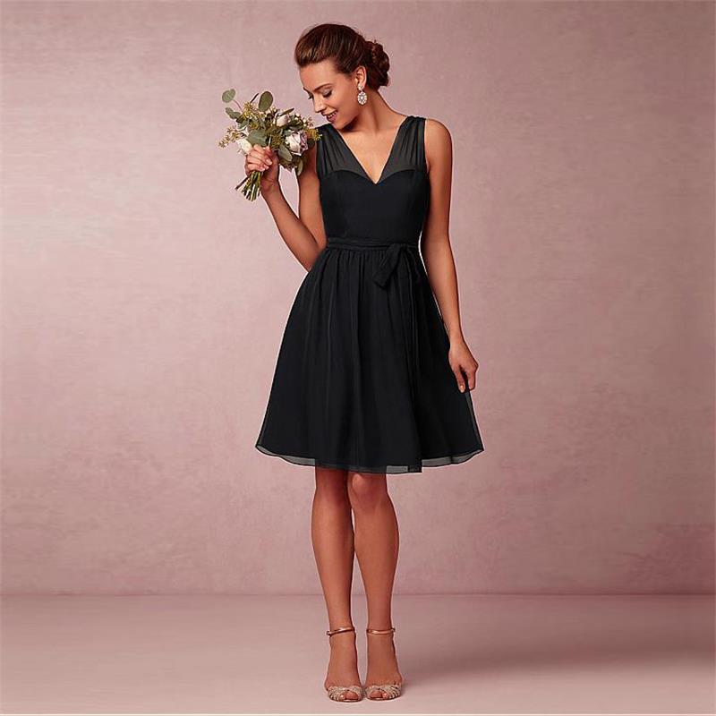Online Get Cheap Black Knee Length Bridesmaid Dresses -Aliexpress ...
