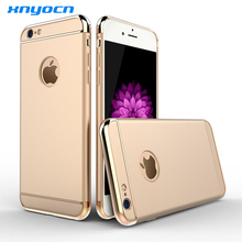 Superior Deluxe Plating Case For iphone 6 4 7 5 5 inch fashion Mobile Phone Tough