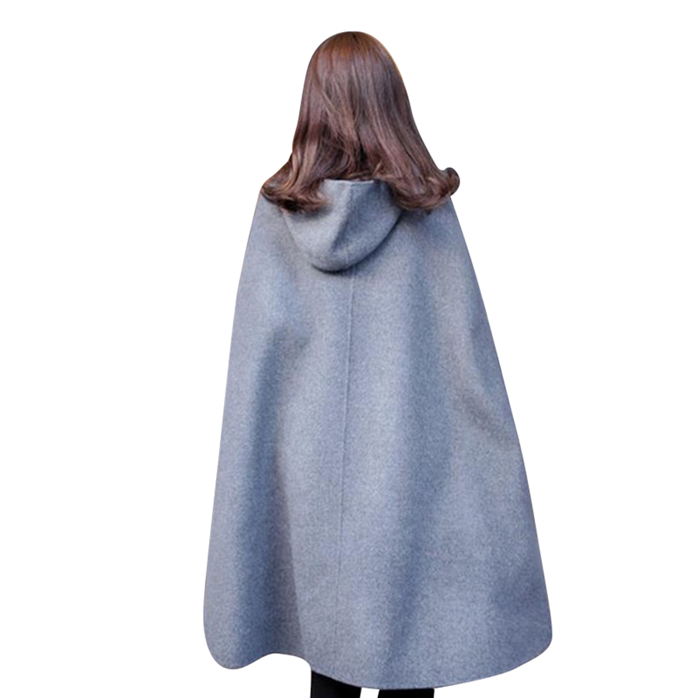 Hooded Cape Clothes Design Fashion: Hooded Cloak Woolen Wind Coat Women Long Cape Fashion