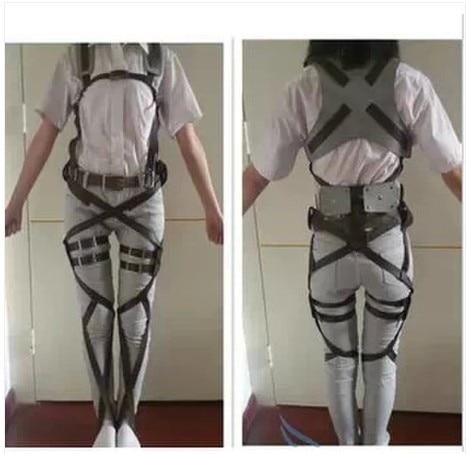 Attaque sur Titan japonais Anime Shingeki No Kyojin Recon Corps harnais ceintures crochet tir Cosplay Costume réglable ceintures