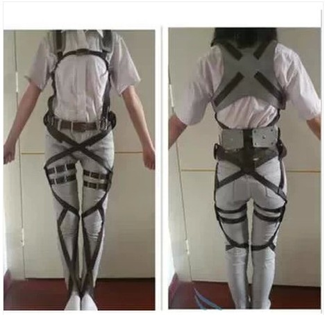 Cinturón ajustable para disfraz de Cosplay de Attack On Titan animé japonés Shingeki No Kyojin Recon Corps