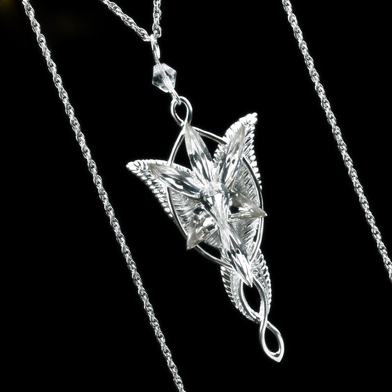 Lord of The LOTR 925 Sterling Silver Arwen Evenstar Pendant Necklace Silver Jewelry Gifts For Women Sweater Necklace in Pendant Necklaces from Jewelry Accessories