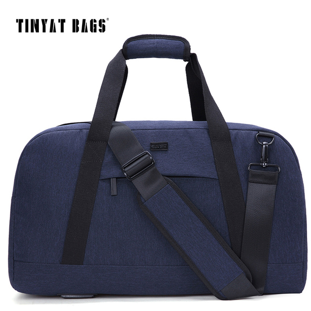 Male Men Travelling bag 40L Travel Luggage bag Nylon Large Capacity Handbags Casual bag Shoulder Duffle Bag Gray T307