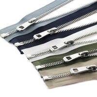 5# 35/45/55/65/75/85cm open-end auto lock platinum plating metal zipper use for clothes shoes pocket garment