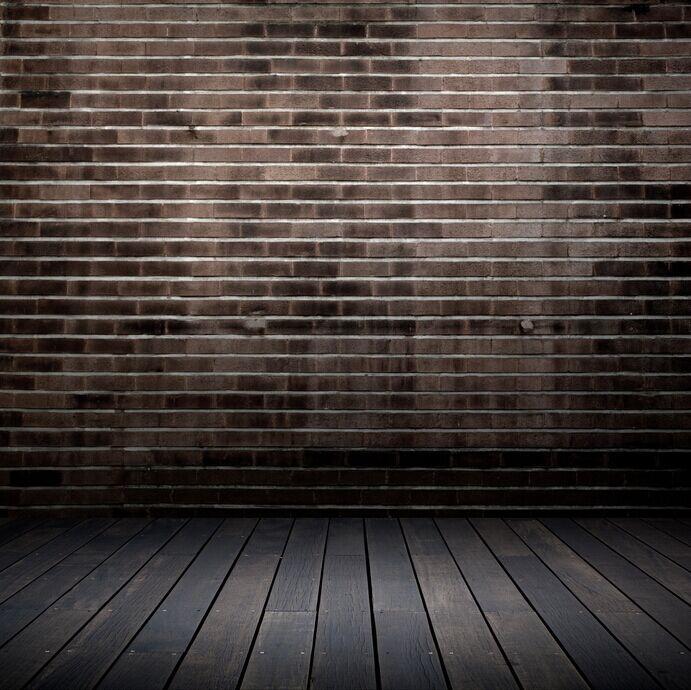8x15FT Dim Grey Gray Bricks Wall Dark Hard Wooden Floor Custom Photography Studio Backdrop Background Vinyl 8x12 10x20 In From Consumer