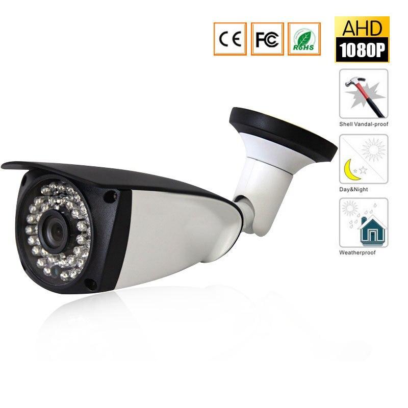 CCTV Security Surveillance HD Night Vision IR IR Range Up To 25M 1080P Full HD Outdoor / Indoor Bullet Camera 3.6mm Lens DC 12V home security outdoor dual ir elements sensor dc 12v
