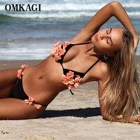 OMKAGI Bikini Swimwear Swimsuit Women Sweeted Bikini Set Bathing Suit Maillot De Bain Femme Biquini Beachwear