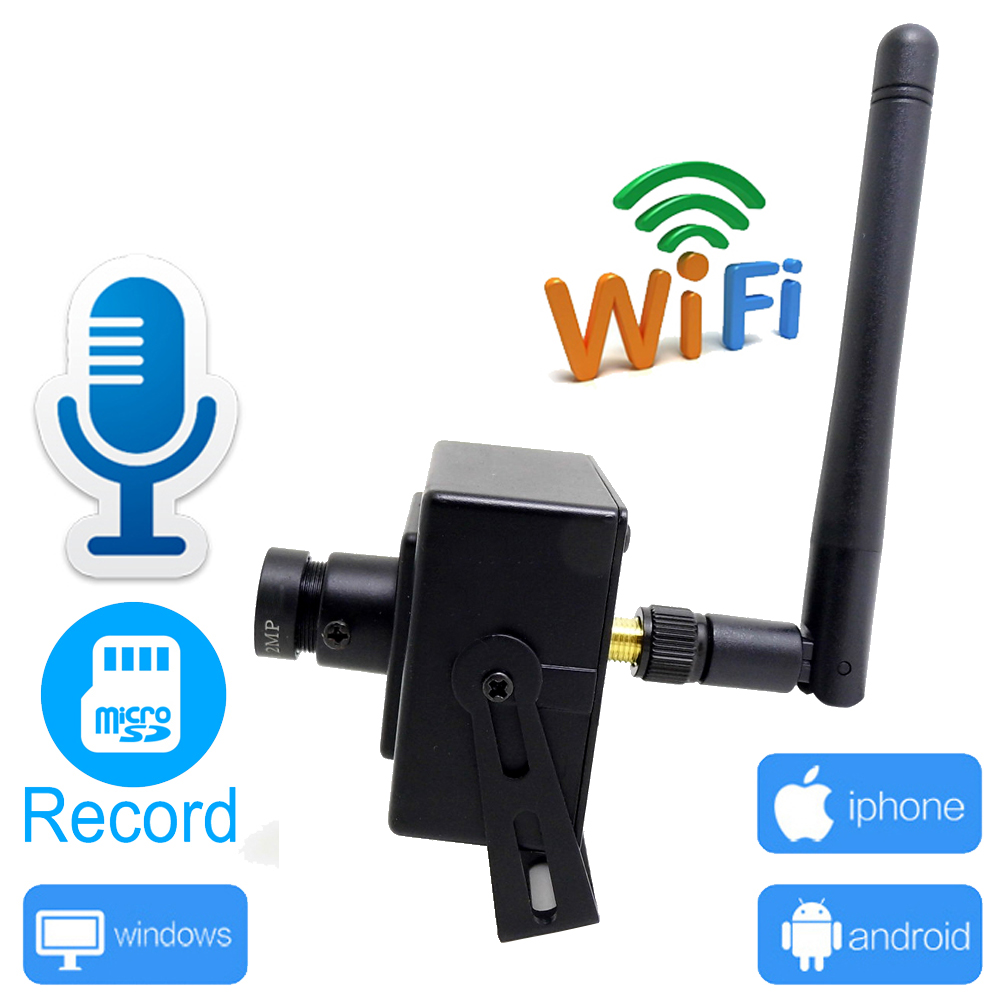 купить JIENUO Mini Camera wifi 720P 960P 1080P CCTV Security Surveillance Support Audio Micro SD Slot Ipcam Wireless Home Small IP Cam по цене 1902.02 рублей