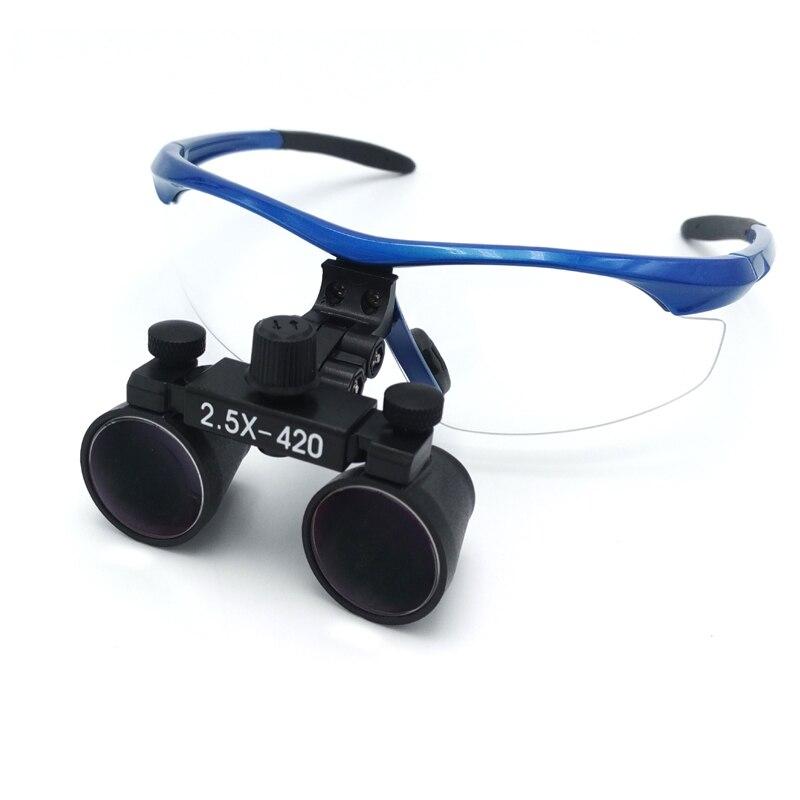 2.5X wiele chirurgiczne lupa regulowana odległość oczu promocyjna cena optyczny Galileo okulary lupa stomatologiczna w Wybielanie zębów od Uroda i zdrowie na AliExpress - 11.11_Double 11Singles' Day 1