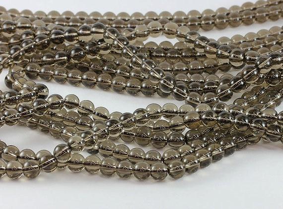Естественный Дым Кварц 12 мм грань Круглые бусины для ювелирных изделий браслет 40 см/нити/лот