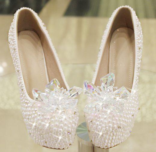 ФОТО Luxury crystal pearls rhinestones wedding shoes platforms lady woman party proms TG531 dress shoes extra high heels 11cm heeled