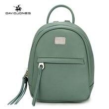 4bf482215ac71 DAVIDJONES kadın omuz çantaları faux deri kadın sırt çantaları küçük lady  seyahat okul çantası kız marka