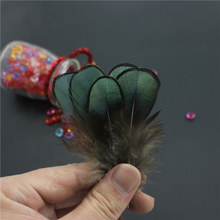100 pcs / lot Wedding Decoration Materials Hat Natural Pheasant Feather Costumes 2-2.5 Inch