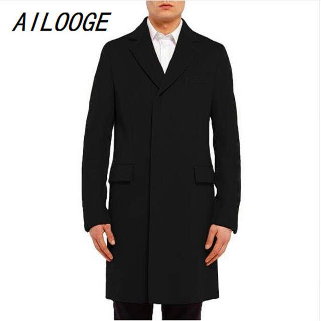 AILOOGE Long Men's Trench...