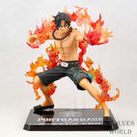 1 Pcs 15 CM One Piece Action Figure Ace PVC Model Fire Devil Fruit Anime Figurines Kids Children Collection Toys High Quality