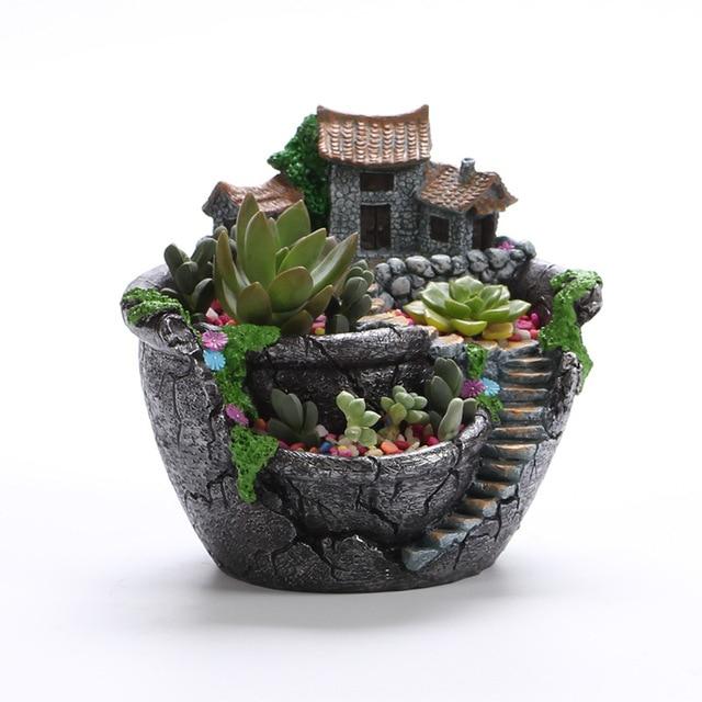 Creative Micro Landscape Flower Pot Hanging Garden Design Flowers