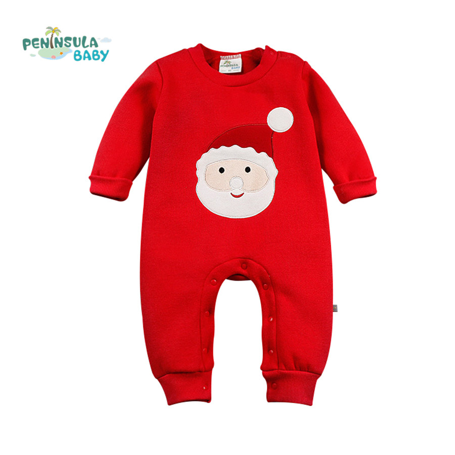 Baby Girls Boys Pullover Romper Santa Claus Reindeer Christmas tree Kid Clothing New Year Costumes For Kids Winter Newborn gift new year santa claus socks pendants gift bags home christmas tree decorations ornaments baby shower natale
