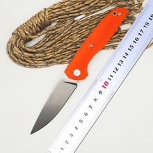BMT F95 110 Roller Tactical Folding Knife Ball Bearing Knife D2 Blade Orange G10 Handle Camp Survival Pocket Knife OEM Tool EDC