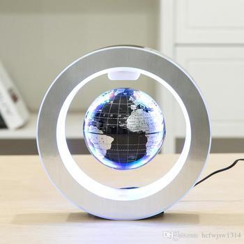 Magnetic World Globe Magnetic Floating Globe LED Levitating Rotating Tellurion World Map School Office Supply Home Decor