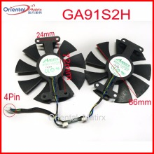 Free Shipping 2pcs/Lot GA91S2H 12V 0.35A 4Pin 86mm VGA Fan For ZOTAC GTX960-AMP Graphics Card Cooler Cooling Fan