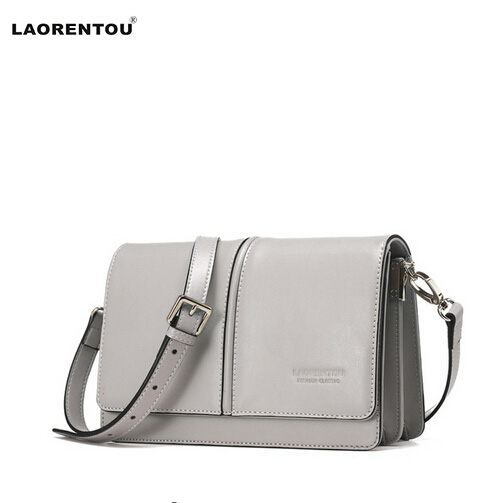 Laorentou 2016 women's handbag fashion leather cross-body bag fashion color block small bag elegant casual female shoulder bag