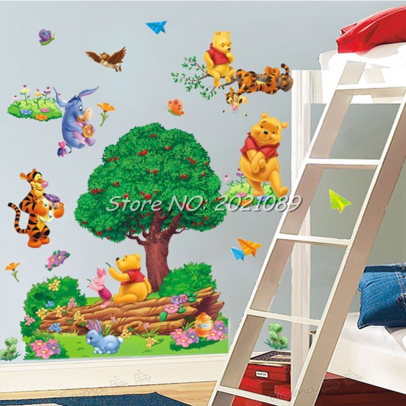 Winnie The Pooh Giant Wall Stickers Part   36: New Removable Large Cartoon  3D Bear Part 47