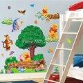Novo 2016 removível grande 3D urso Pooh adesivos de parede Art Vinyl decalques crianças berçário quarto Decor