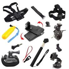 For Gopro Equipment Set Mini Tripod Monopod Chest Belt Mount Strap For Go professional hero 5 four SJCAM SJ4000 Xiaomi Yi Motion Digital camera
